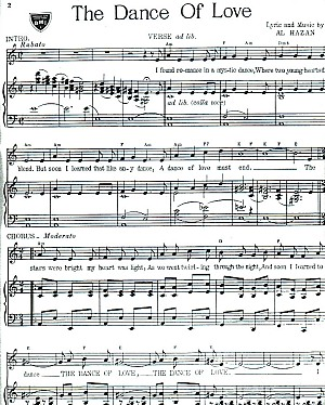 The Dance of Love - Sheet Music