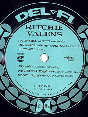 Valens' Record Label with Hi-Tone