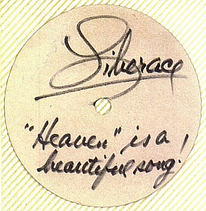 Card signed by Liberace