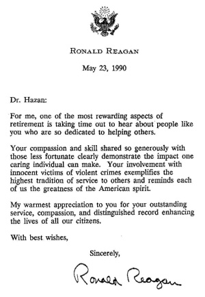 Letter from Ronald Reagan